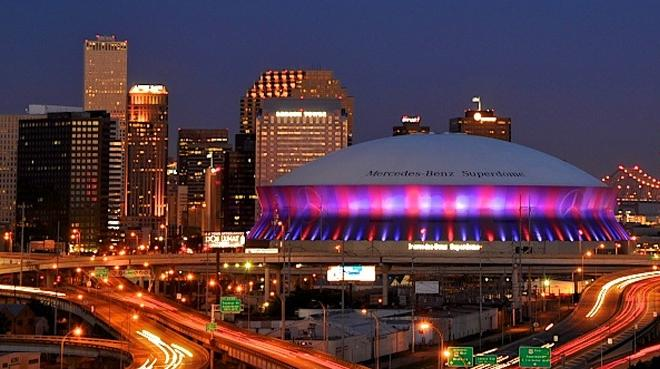 The Mercedes-Benz Superdome! WOOT!!!